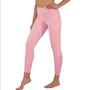 Yogaliscous 7/8 Pink Leggings With Pockets